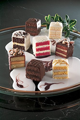 Best Chocolate Lovers Petit Fours - Bite Size Dessert Appetizers (60 Piece Tray)