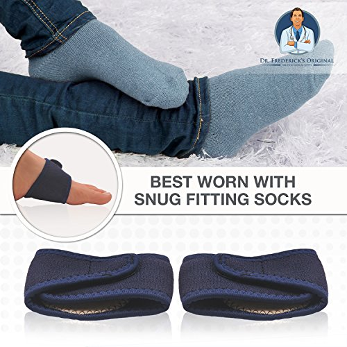 Dr. Frederick's Original Arch Support Brace Set - Two Orthotic Insole Wraps for Plantar Fasciitis and Flat Feet - Fast Relief of Foot Pain by Dr. Frederick's Original (Image #3)