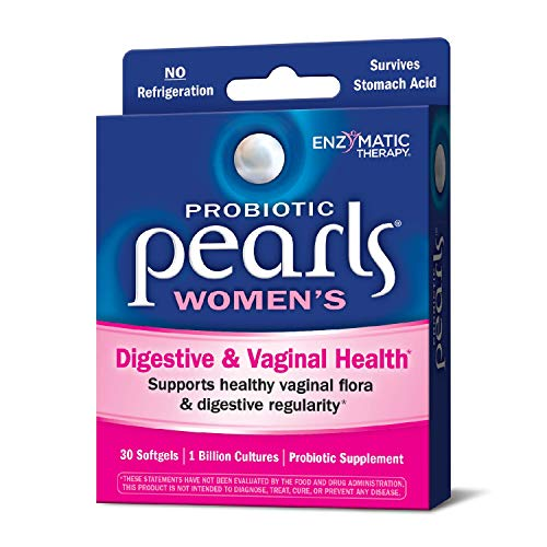 Acidophilus Pearls - Probiotic Pearls Once Daily Women's Probiotic Supplement, 1 Billion Live Cultures, Survives Stomach Acid, No Refrigeration, 30 Softgels (Packaging May Vary)