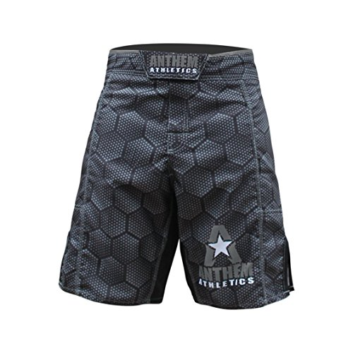 Anthem Athletics RESILIENCE MMA Shorts - Black Hex With Grey - 32""