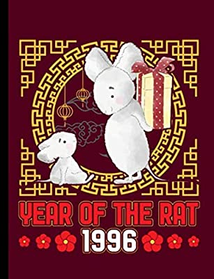 Year of the Rat 1996 Composition Notebook: Happy Chinese New Year, Blank College Ruled Lined Note Book (Chinese Birthday Gifts Vol 2)