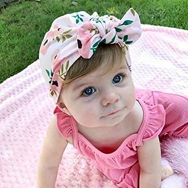 Lumsinker 5Pcs Donuts Baby Hats Girls Turban Knot Infant Headbands Hospital Cap Wraps Hat