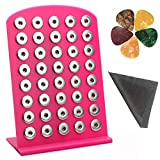 Display Black Pink 18MM 20MM Snap Button Charm Organizer Display Boards Holds 40 Charms (Pink)