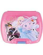 ALMACENESADAN 2000, Sandwichera Premium Rectangular Multicolor Disney Frozen, Producto de plástico; Libre BPA; Dimensiones 18x14x7 cm