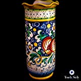 Touch of Sicily, Italian Hand Made Ceramic Paper Glasses Holder.