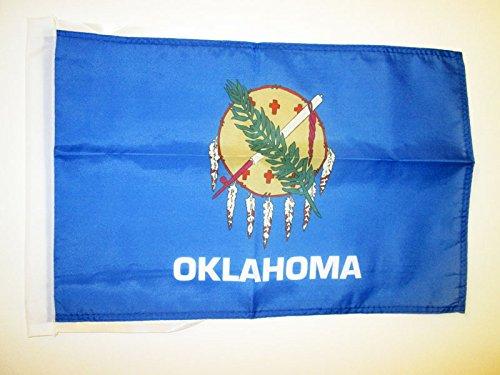OKLAHOMA FLAG 18'' x 12'' cords - US STATE OF OKLAHOMA SMALL FLAGS 30 x 45cm - BANNER 18x12 in - AZ FLAG