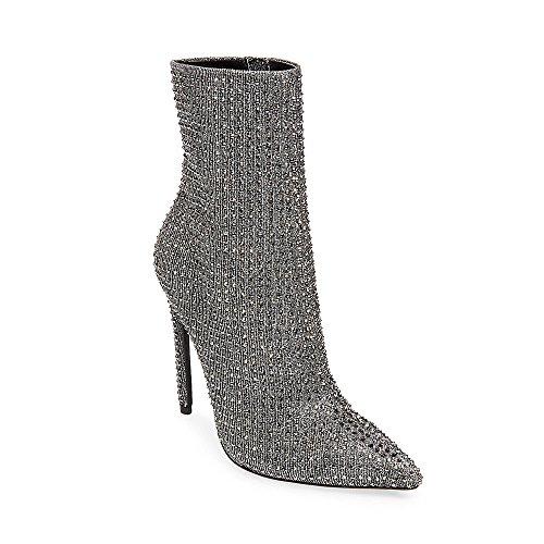 Steve Madden Women's Wifey Ankle Boot, Rhinestone, 9 M US