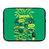 Psych Pineapple Quote Mash Up Briefcase Handbag Case Cover For 13-15 Inch Laptop, Notebook, MacBook Air/Pro