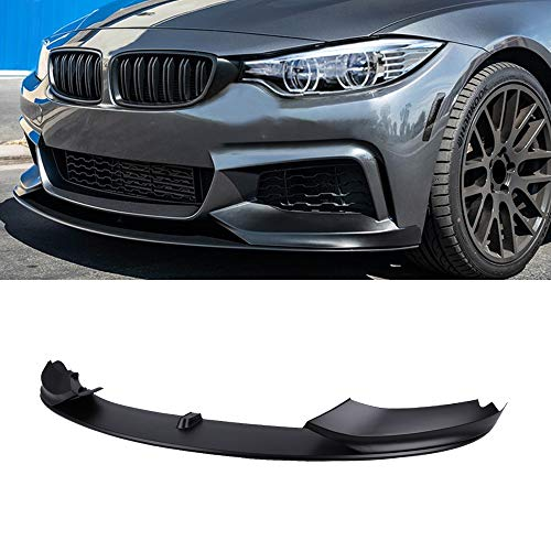F32 Front Lip,FRP Front Bumper Lip Spoiler Splitter For 2014-2019 BMW F32/F36/F33 4 Series With M Sport Bumper (Matt Black)