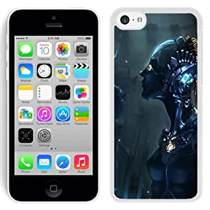 Beautiful And Unique Designed With Robot Cyborg Mechanism Girl (2) For iPhone 5C Phone Case