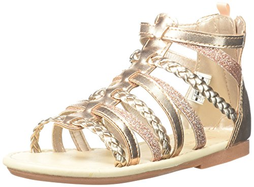 Carter's Girls' Smile Gladiator Sandal, Rose Gold, 7 M US Toddler by Carter's