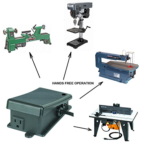 ters Scroll Saws Drill Presses Lathes Rotary Tools Operation - Hands Free Electrical Power Foot Switch Pedal (Power Tool Scroll Saw)