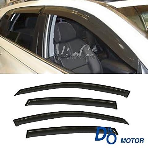 VioGi 4pcs Smoke Tint Out-Channel Reinforced Acrylic Sun Rain Guard Vent Shade Window Visors For 00-05 Chevy - Impala Vent