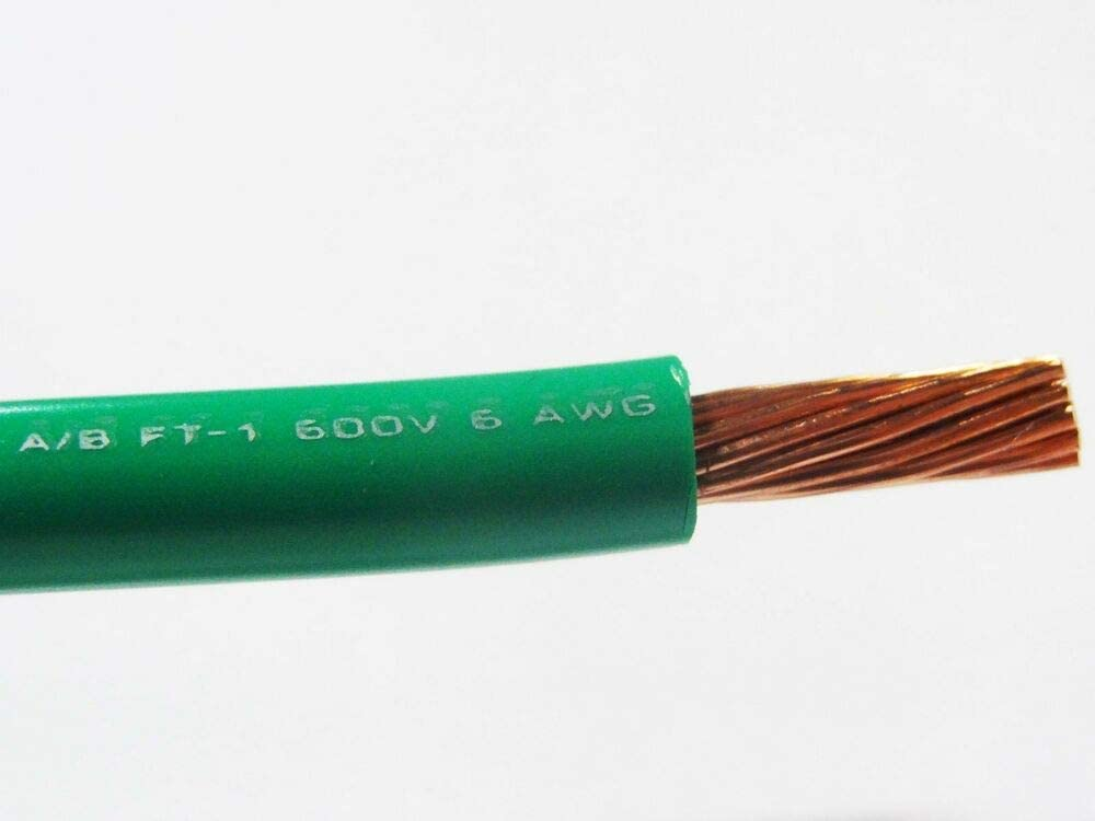 MTW 6 AWG GAUGE RED STRANDED COPPER SGT PRIMARY WIRE 15/' FT
