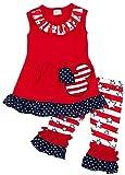 Angeline Girls July 4th Independence Day Disney Minnie Capri Set 7T/3XXL