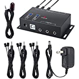 IR Repeater Neoteck 1 Receiver 6 Emitters Hidden IR Repeater System Infrared Remote Control Extender Kit for DVD IPTV Karaoke Hotel Set-Top Box Hidden Installation Bath Center and Home