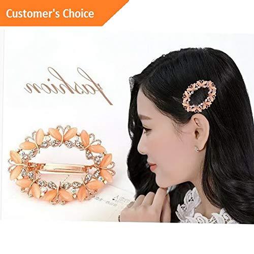 Werrox Lady Women Crystal Rhinestone Flower Hair Claw Clamp Clips Hairpin 6.54.5cm DIY | Model HRPN - 1073 |