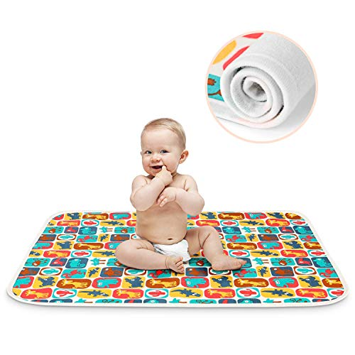 Printed Changing Baby Diaper Pad, Waterproof Pad Baby, Mifiatin Soft Urine Pads Absorbent Blanket Sheet Bed Pads Washable Mattress Change Mat Incontinence Pads for Infant and Adults - Zoo(70x100cm)
