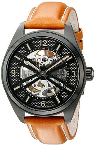 Hamilton-Mens-H72585535-Khaki-Field-Analog-Display-Automatic-Self-Wind-Brown-Watch