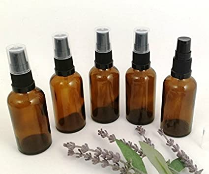 5 x AMBER Glass Aromatherapy Bottle with BLACK treatment pump/lotion pump. Choose Size: 10ml, 20ml, 25ml, 30ml, 50ml and 100ml Aromatherapy Bottle. Top quality empty AMBER glass bottle suitable for Aromatherapy, Art, Crafts, First Aid, Travel Size Bottle f