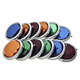ALICE 12 Sets Candy Color Crystal Makeup Mirrors, Crystal Mirror, Assorted Color