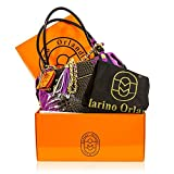 Marino Orlandi Italian Designer Purple Croc Leather Large Boxy Crossbody Bag w/Chain