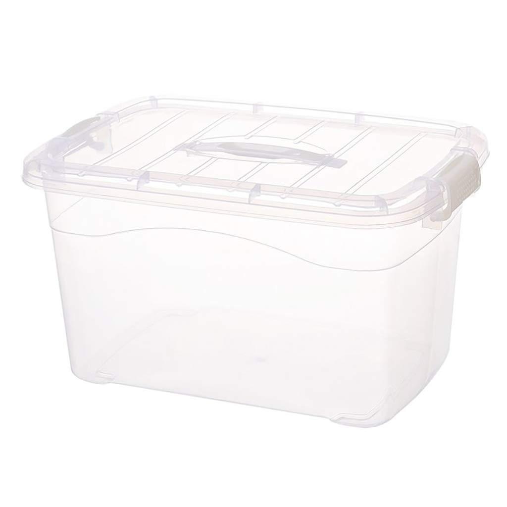 CDラック プラスチック収納ボックス収納整理箱付きカバー子供のおもちゃ服収納ケース並べ替えボックス、防虫防湿 (Size : 60L/53.5*38.5*32cm) B07S1NGWCC  60L/53.5*38.5*32cm