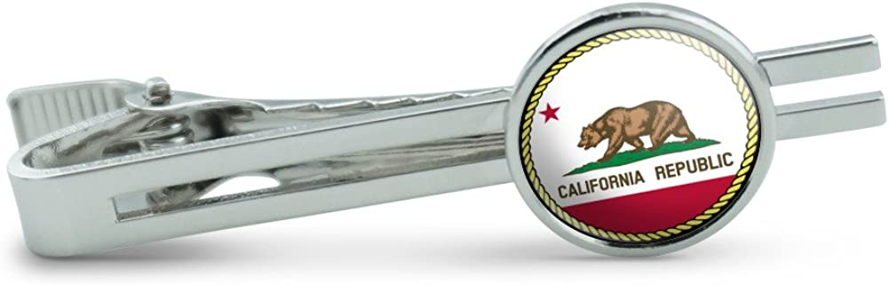 Made On Terra California Republic State Flag Men's Tie Clip Tack Bar