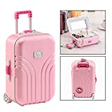 OFKPO Suitcase Music Box, Jewelry Storage Box with Rotating Cartoon Girl for Birthday Present (Random Color)