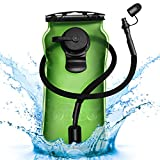 Homitt 3L Hydration Bladder, BPA Free Military Class Water Reservoir,Leakproof Hydration Bladder with Wide Opening Self-Locking Valve for Hiking Walking Biking Climbing Cycling Running,Green