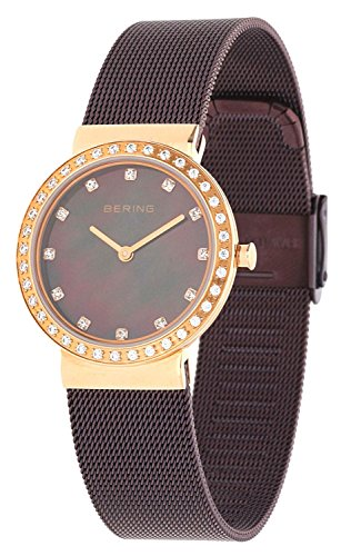 BERING Time 10729-262 Womens Classic Collection Watch with Mesh Band and scratch resistant sapphire crystal. Designed in Denmark.