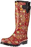 Nomad Women's Puddles Rain Boot, red/yellow paisley, 8 Medium US