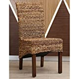 International Caravan SG-3302-2CH-IC Furniture Piece Gaby Woven Banana Dining Chair (Set of 2)