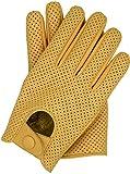 Riparo Motorsports Men's Genuine Leather Mesh Driving Gloves (X-Large, Camel)