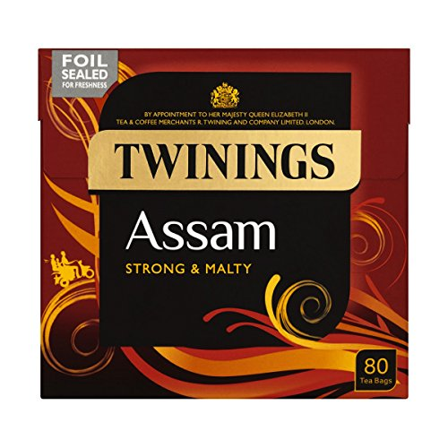 Twinings Assam Strong and Malty, 80 Tea Bags (Assam Twinings Tea)