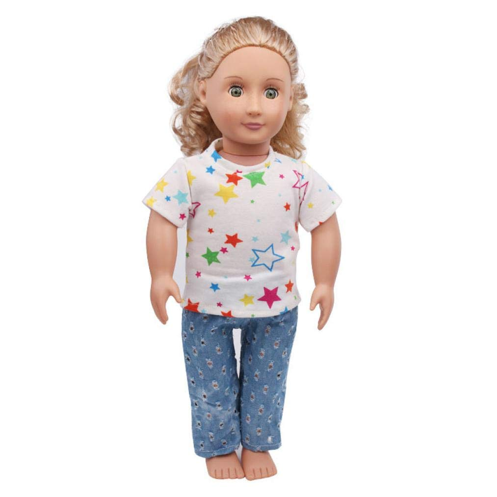 Singular-Point Kid Toys Sale!! Summer Clothes Suit 18 Inch American Girl Doll Accessory Girl's Toy 3 Colors Choices (bu)