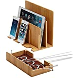 Great Useful Stuff Eco-Friendly Bamboo Multi-Device Charging Station and Dock