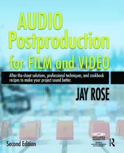 Audio Postproduction For Film And Video  After The Shoot Solutions Professional Techniquesand Cookbook Recipes To Make Your Project Sound Better