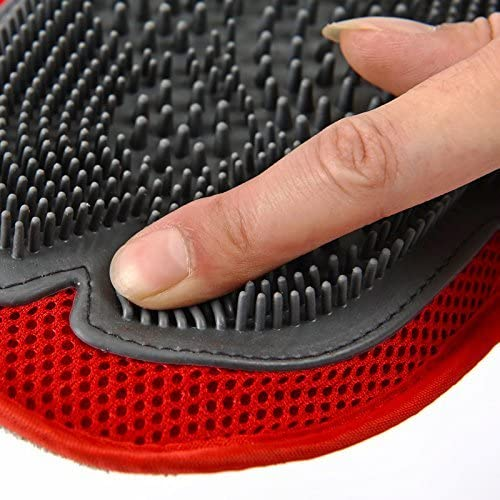 Cisixin Pet Dog Cat Bathing Mittens Massage Gloves Hair Remover Grooming Brushes Perfect for Long and Short Hair Pets