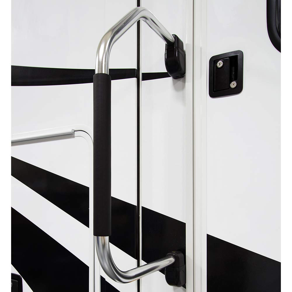 5th Wheels White Manufacturers Select ITC Inc Stow /& Go Folding Assist Handle for RVs and Trailers Comfort-Padded RV Assist Entry Handle