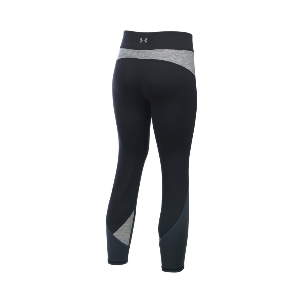 Under Armour Girls' Finale Capri, Black/Steel, Youth Large by Under Armour