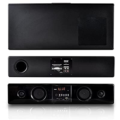 Pyle WiFi Sound Bar Speakers - Sound Base - 2.0-Channel Home Theater Speaker System, - USB/SD/MP3 Readers - Black (PSBV210WIFI)