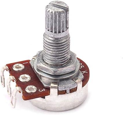 SUPVOX Potenciómetros de guitarra de audio de eje dividido largo ...