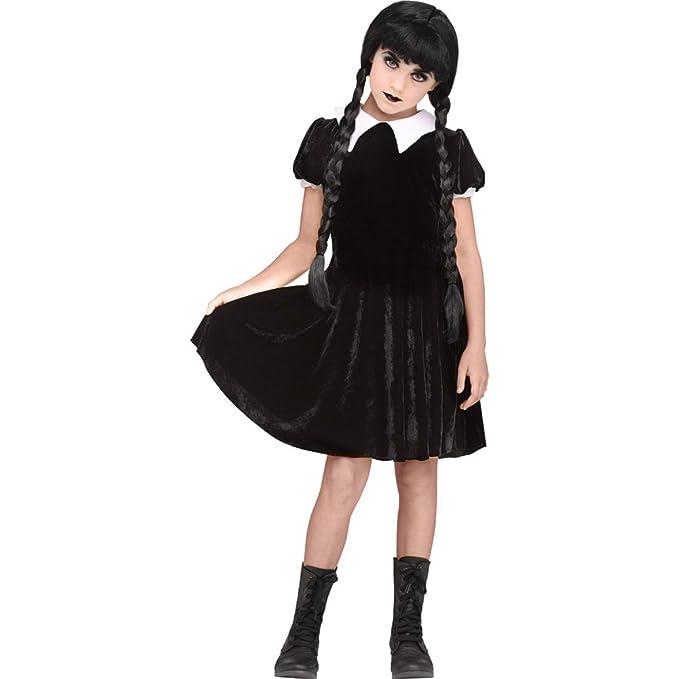 Fun World Gothic Girl Child Wednesday Addams Costume