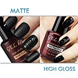 #7: Gellen No Wipe Matte Top Coat and High Gloss Shiny Top Coat for Gel Nail Polish