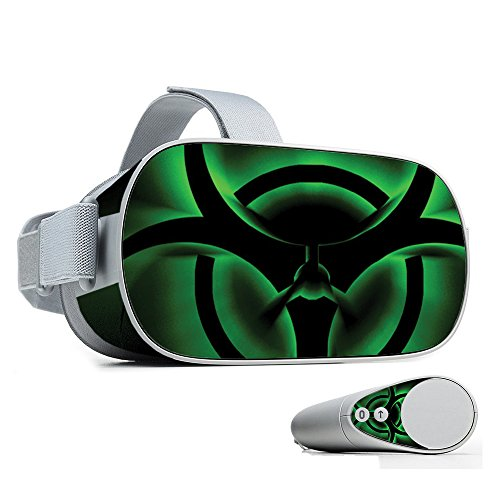 MightySkins Skin for Oculus Go Mobile VR - Bio Glare | Protective, Durable, and Unique Vinyl Decal wrap Cover | Easy to Apply, Remove, and Change Styles | Made in The USA