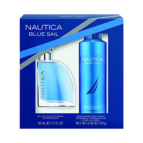 Nautica Blue Sail 2pc Set -1.7oz Eau De Toillette + 6.0 oz Body - Gift Nautica Spray Set