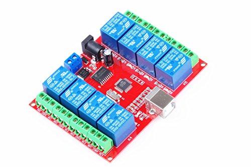KNACRO SRD-05VDC-SL-C 8-way 5V Relay Module Free driver USB control switch PC intelligent control (5V 8-Channel) by KNACRO (Image #5)