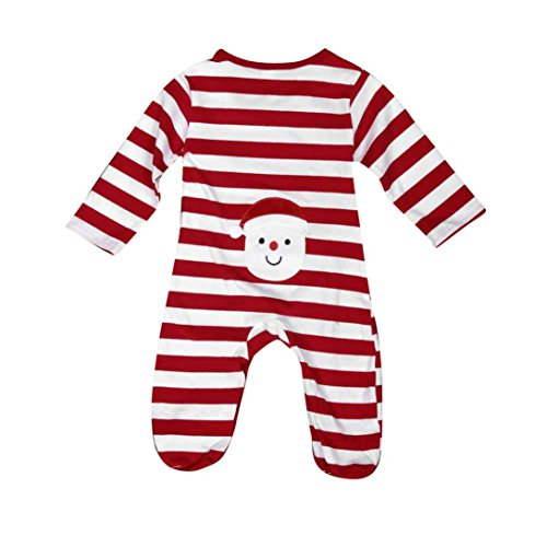 Toraway Infant Newborn Baby Boy Girl Christmas Stripe Romper Jumpsuit Climbing Outfits Clothes (6-12 Month, (Cheap Santa Outfit)