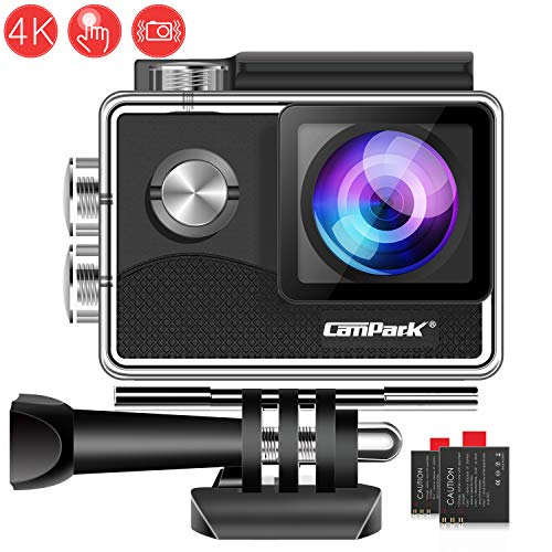 Campark X15 4K Action Camera with Touch Screen EIS Anti-Shake WiFi Waterproof Cam 30m Underwater Christmas New Year Birthday Festival Gift with Mount Accessory Kits, Compatible with GoPro